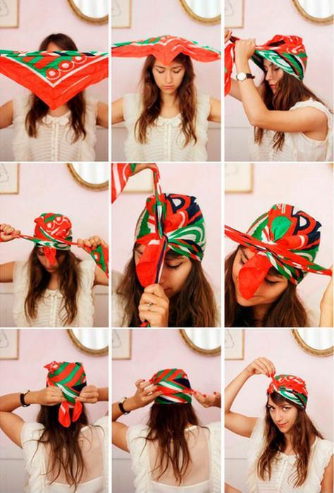 image41-1   Как красиво и оригинально повязать шарф или палантин на голову