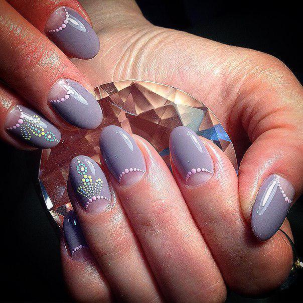 image34-1 | Маникюр «дотс» — 40 отличных вариантов дизайна ногтей