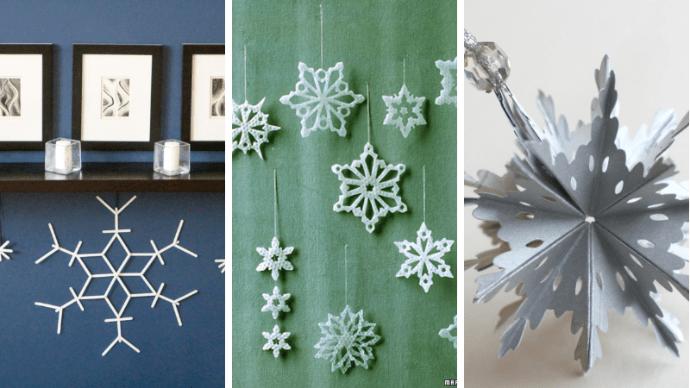 15 способов сделать снежинку своими руками