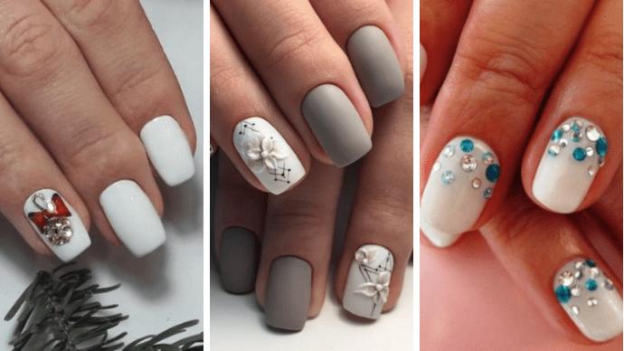 Идеи белого маникюра для зимнего дизайна ногтей