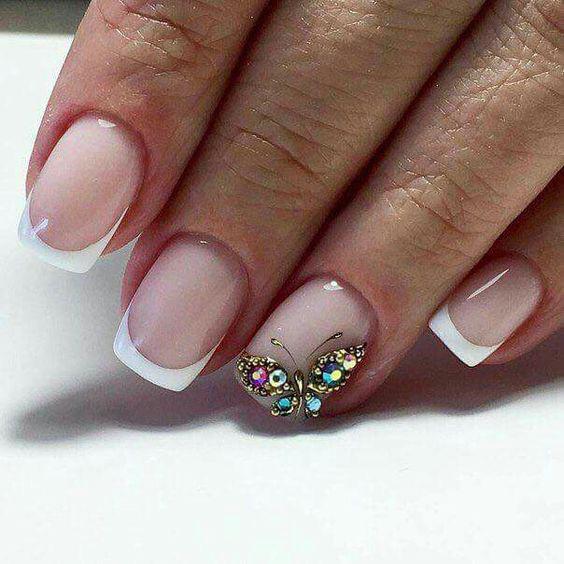 image1-31 | Идеи маникюра с бабочками на короткие ногти