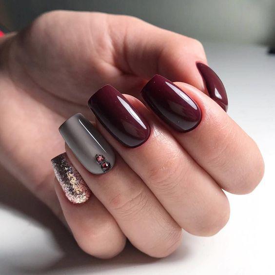 image1-33 | 28 идей бордового маникюра на короткие ногти