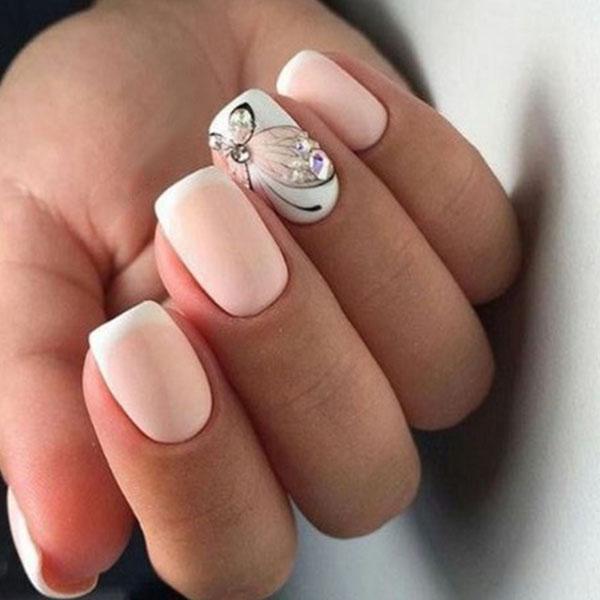 image13-28 | Идеи маникюра с бабочками на короткие ногти