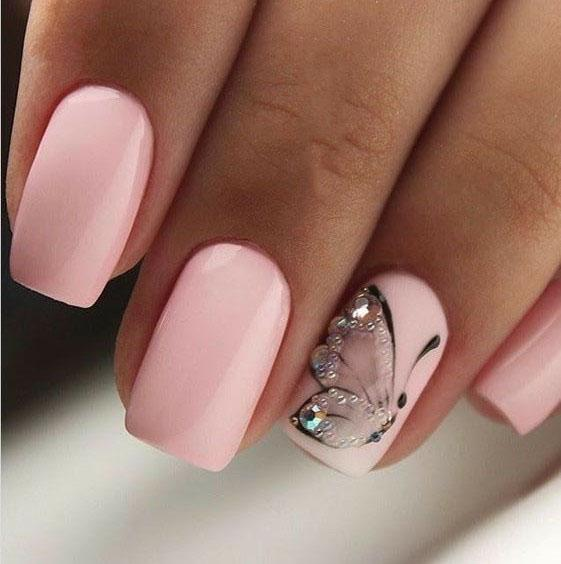 image17-25 | Идеи маникюра с бабочками на короткие ногти