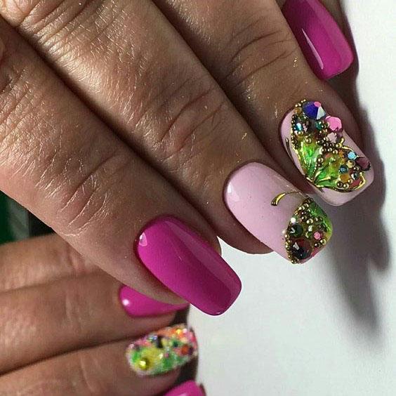 image24-13 | Идеи маникюра с бабочками на короткие ногти