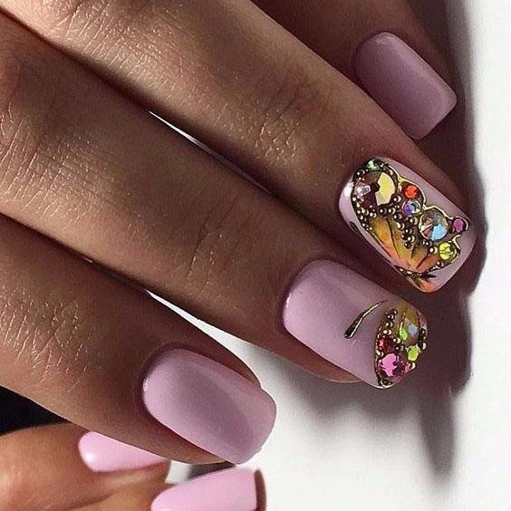 image29-10 | Идеи маникюра с бабочками на короткие ногти
