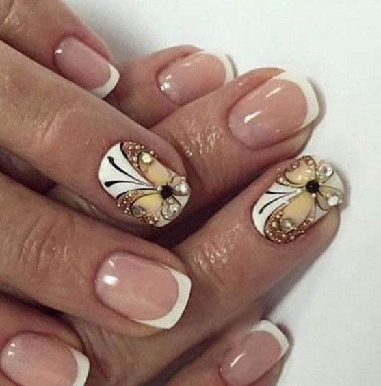 image33-9 | Идеи маникюра с бабочками на короткие ногти