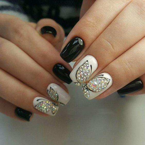 image4-29 | Идеи маникюра с бабочками на короткие ногти