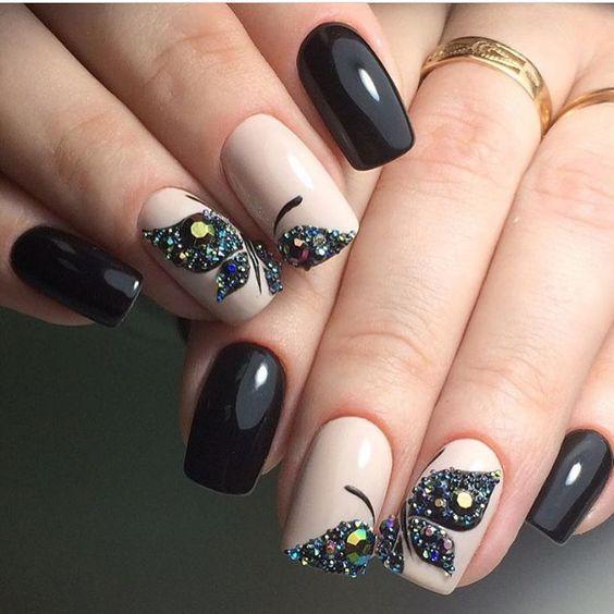 image6-29 | Идеи маникюра с бабочками на короткие ногти