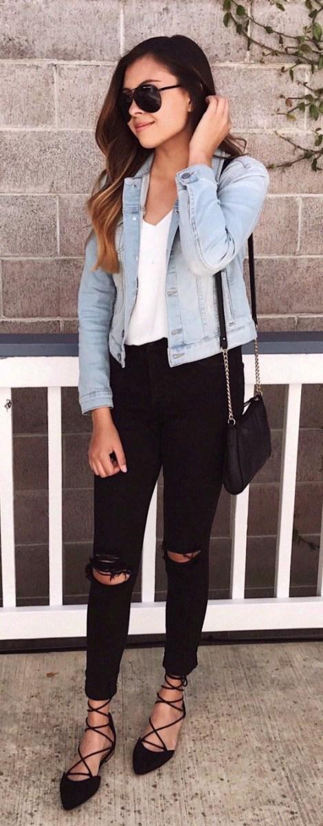 image1-18 | Как носить джинсы этой весной — 39 образов с фото