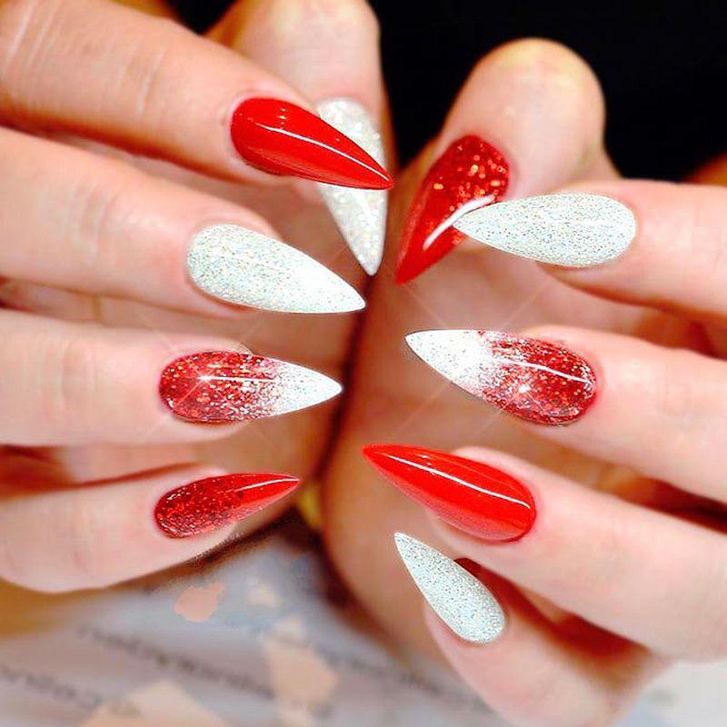 image10-31   Лучшие идеи красного маникюра на ногти любой длины