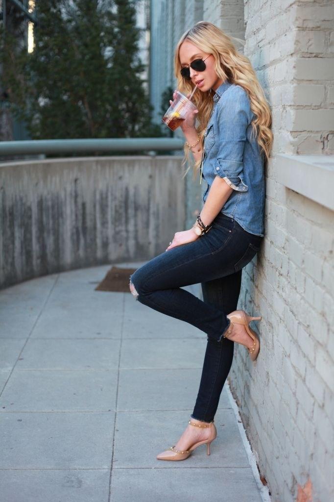 image16-10 | Как носить джинсы этой весной — 39 образов с фото