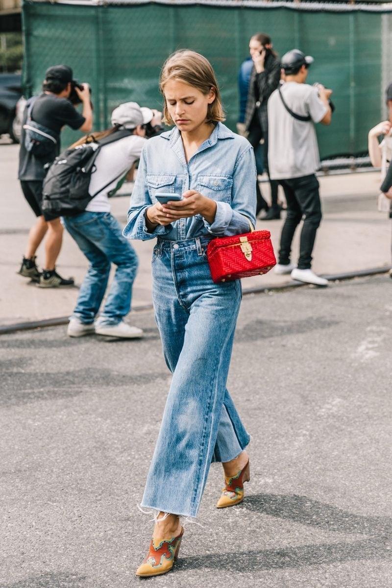 image17-9 | Как носить джинсы этой весной — 39 образов с фото