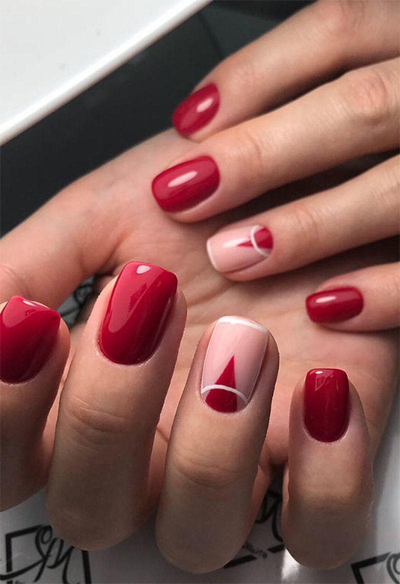 image2-36   Лучшие идеи красного маникюра на ногти любой длины