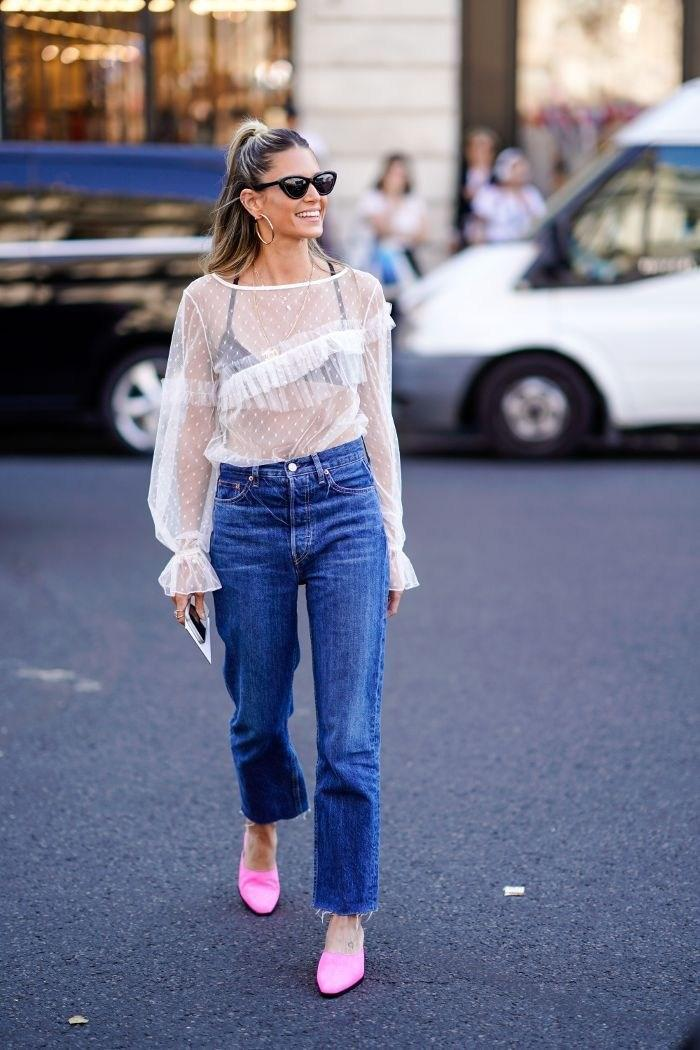 image22-9 | Как носить джинсы этой весной — 39 образов с фото