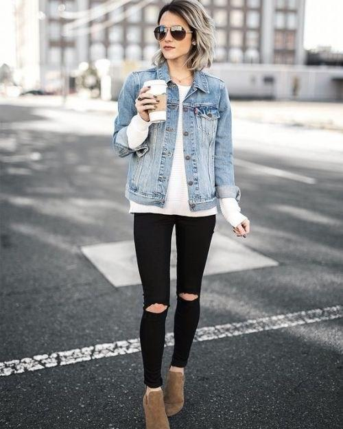 image23-9 | Как носить джинсы этой весной — 39 образов с фото