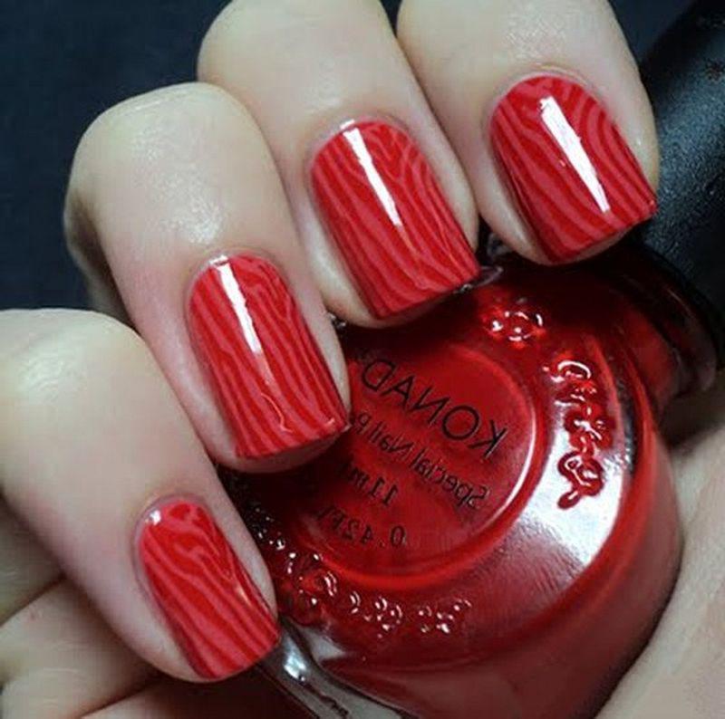 image27-24   Лучшие идеи красного маникюра на ногти любой длины
