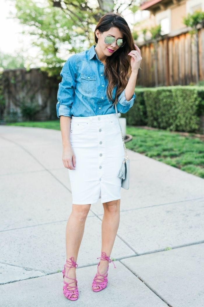 image28-8 | Как носить джинсы этой весной — 39 образов с фото