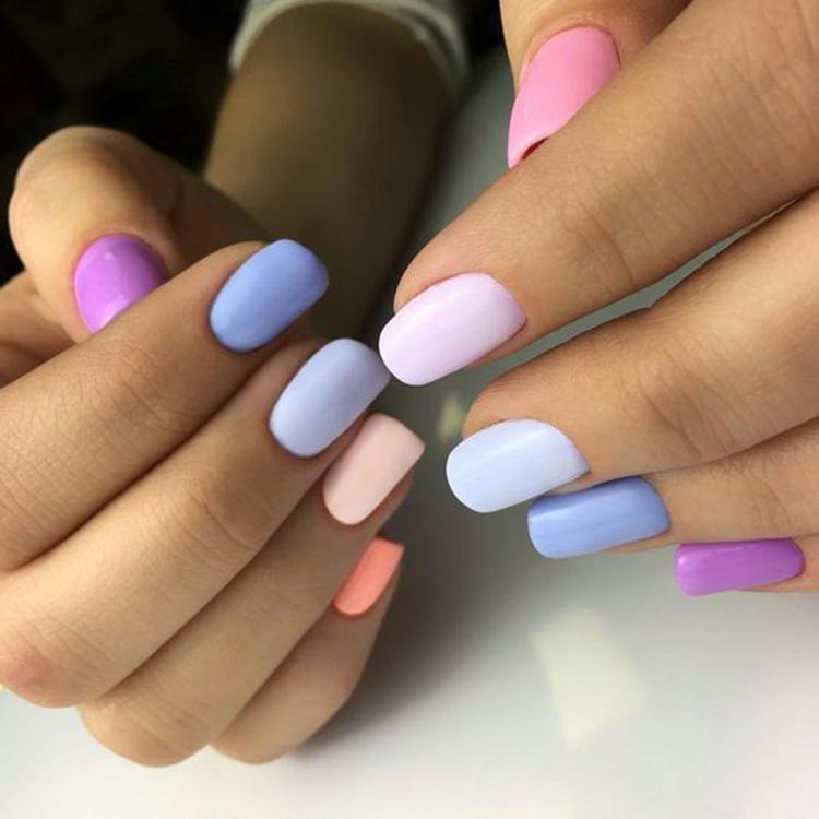 image29-18   34 идеи разноцветного маникюра — радуга на кончиках ваших пальцев