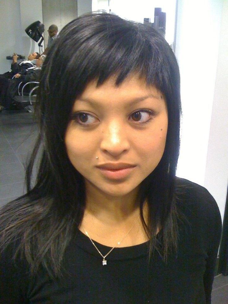 image31-13   Прически на длинные волосы с короткой челкой
