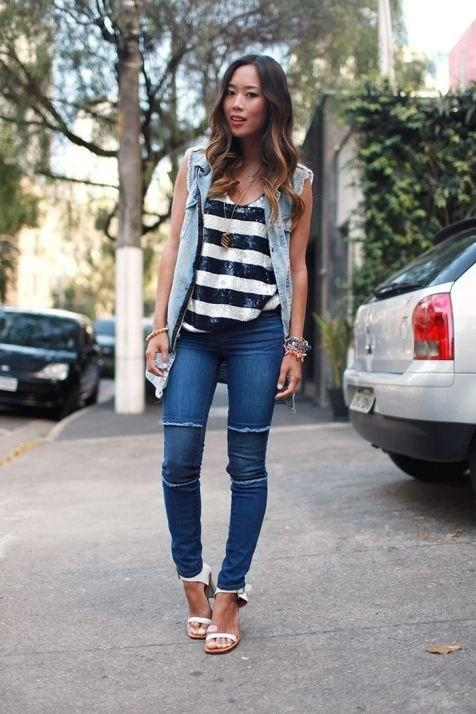 image33-8 | Как носить джинсы этой весной — 39 образов с фото