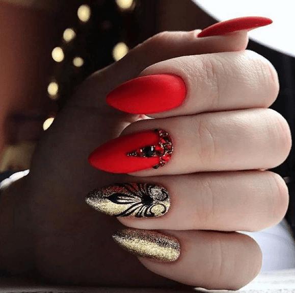 image12-4 | 38 идей матового маникюра на миндалевидные ногти