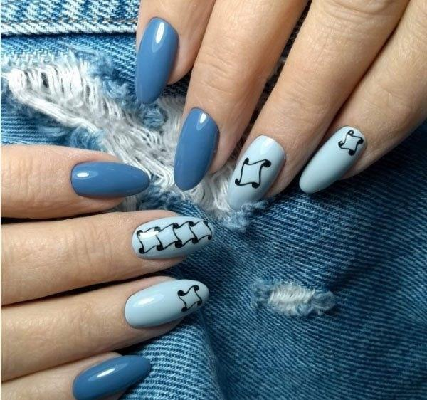 image12-6 | 37 идей синего маникюра на ногти разной формы и длины — найди лучшее решение