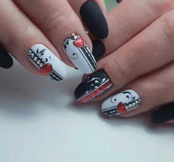image21-4 | 38 идей матового маникюра на миндалевидные ногти