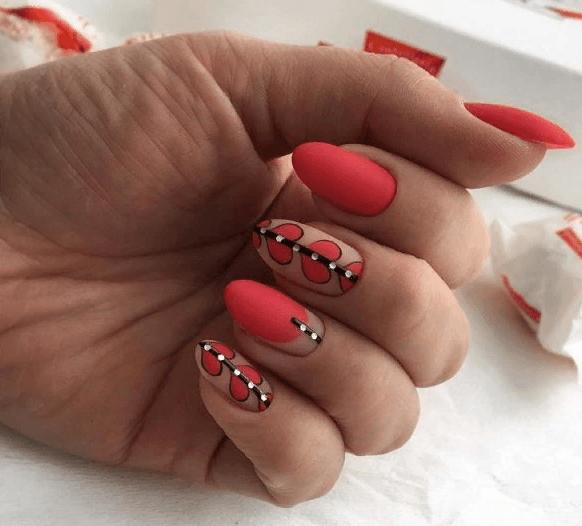 image22-4 | 38 идей матового маникюра на миндалевидные ногти