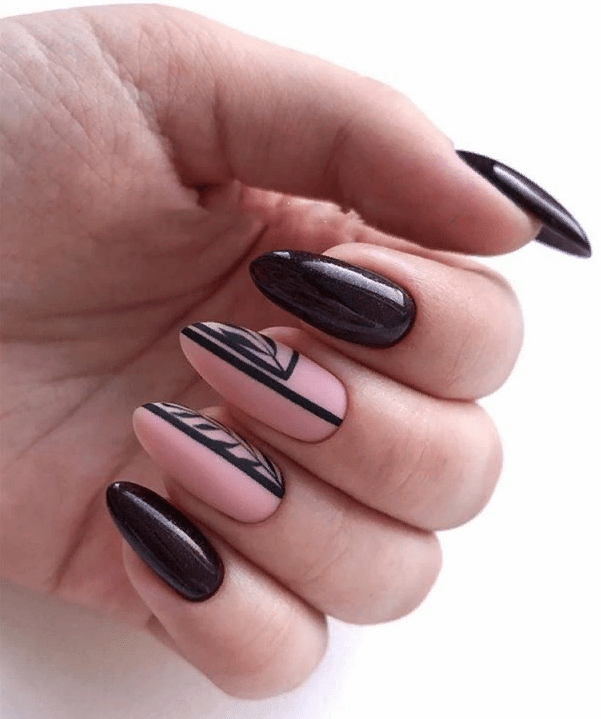 image24-4 | 38 идей матового маникюра на миндалевидные ногти