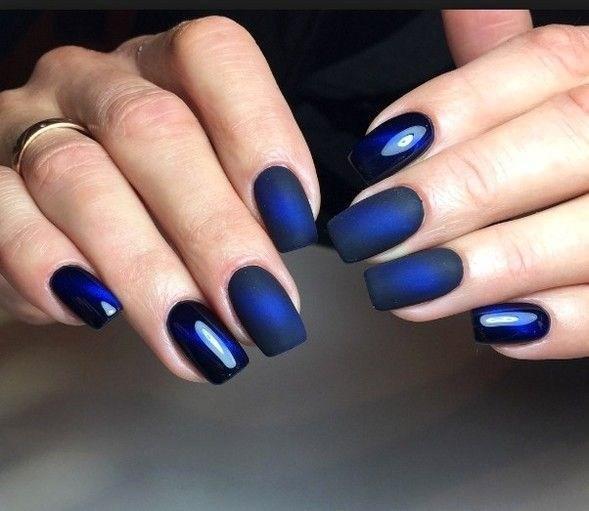 image25-6 | 37 идей синего маникюра на ногти разной формы и длины — найди лучшее решение