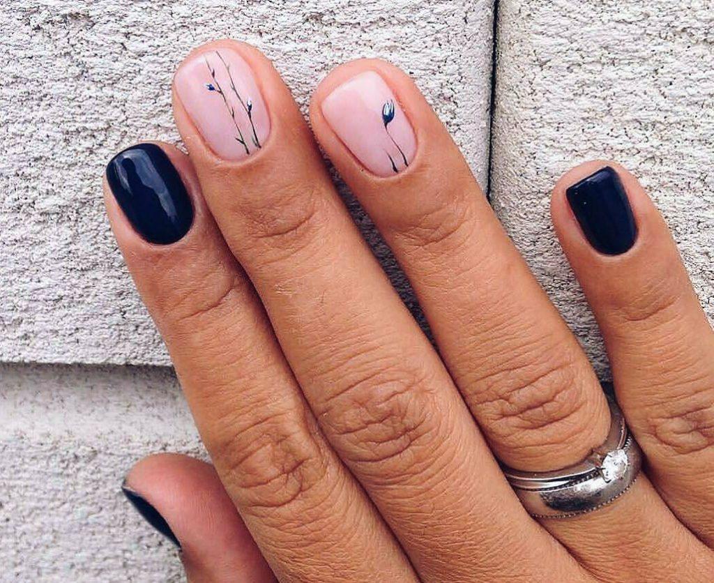 image28-2   50 лучших идей весеннего маникюра на короткие ногти