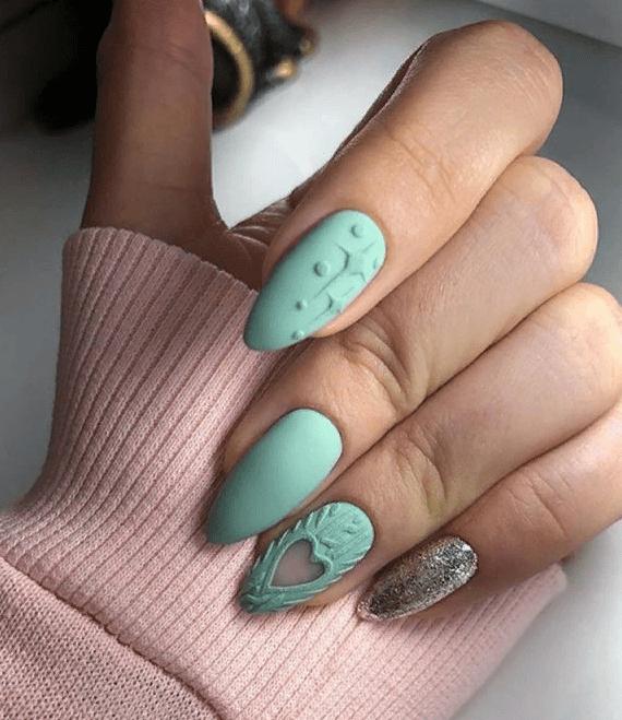 image28-4 | 38 идей матового маникюра на миндалевидные ногти