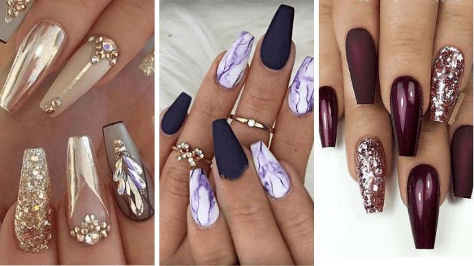 Роскошный маникюр на длинные ногти