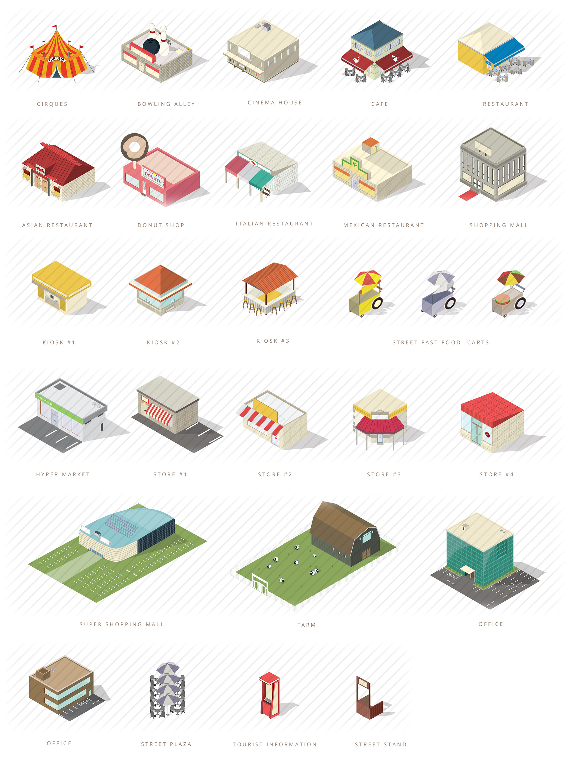 Isometric Map Builder Elements