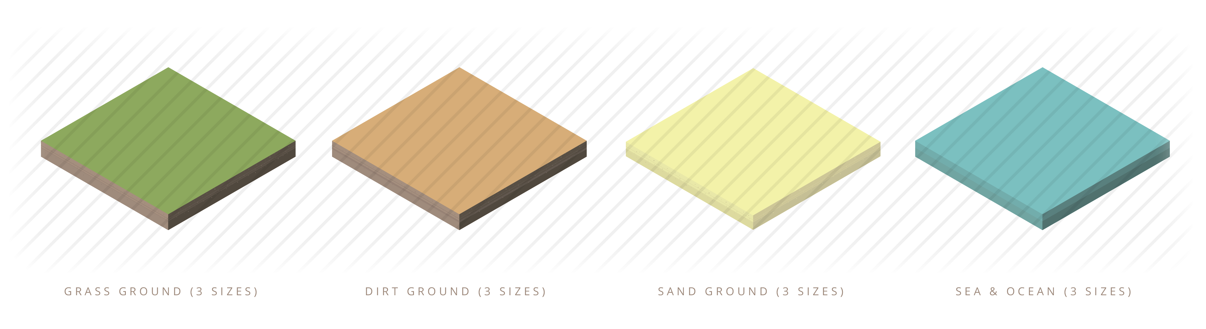 Isometric ground cubes