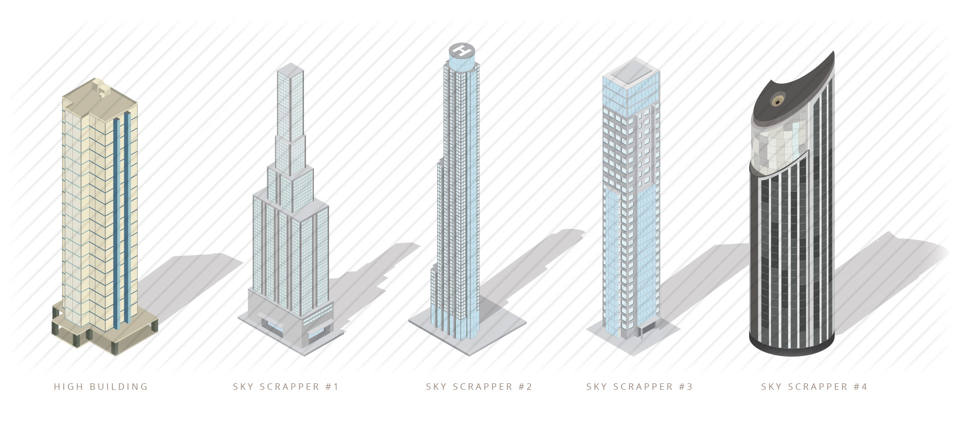 isometric-building-and-skyscrapper