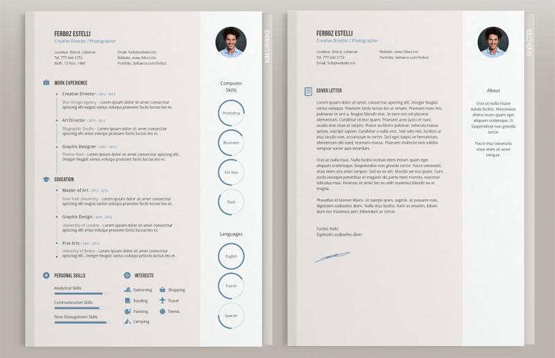 Template minimalista para CV de Theme Raid