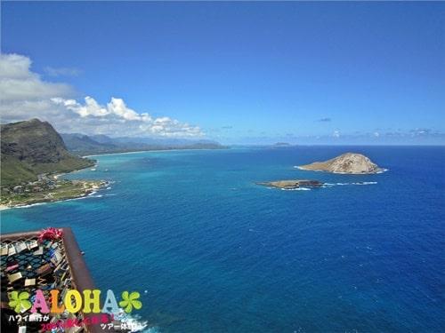 マカプウ岬ハイキングツアー_15展望台からの景色
