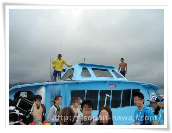 カネオヘ湾の船