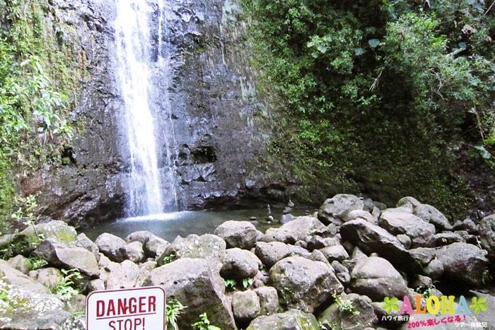 マノアの滝の滝つぼ