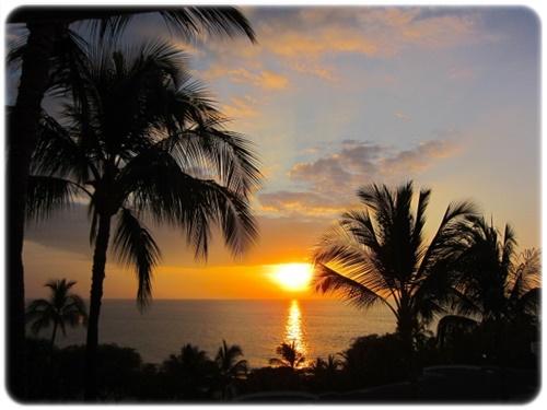 美しく沈む夕陽を眺めた後は