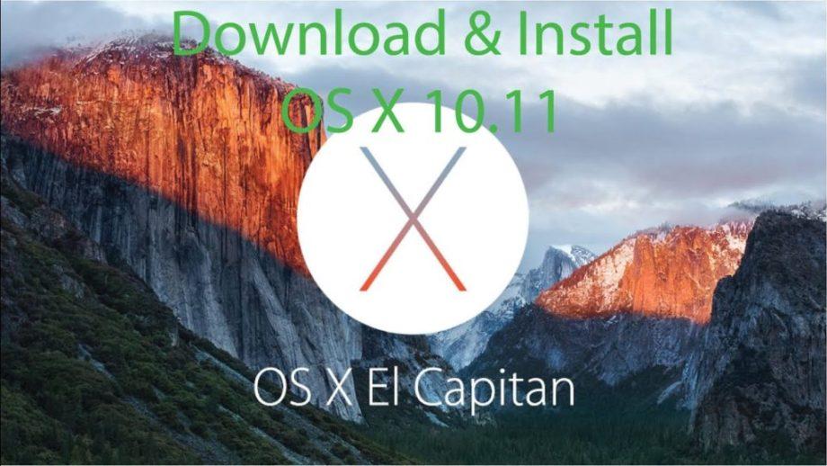 Installing Mac OS X 10.11 El Capitan
