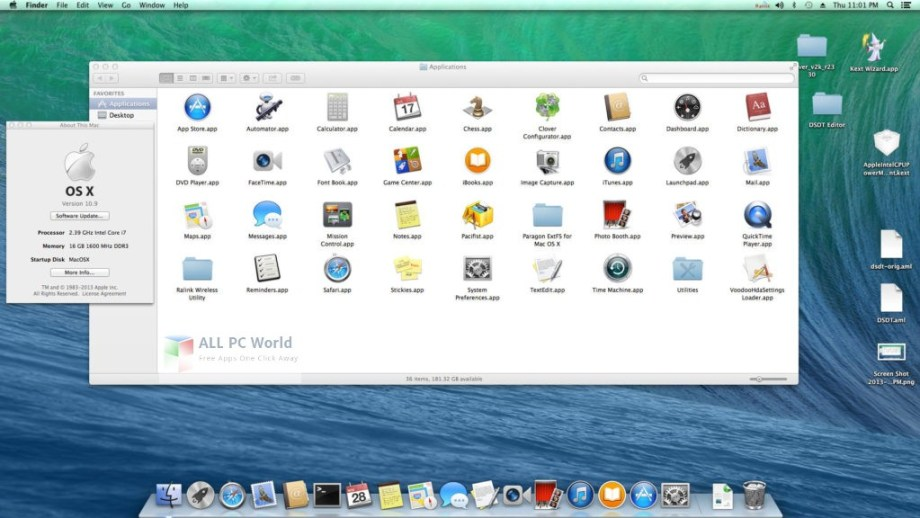 Where can I download the Mac OS X Mavericks 10.9 ISO/DMG file direct