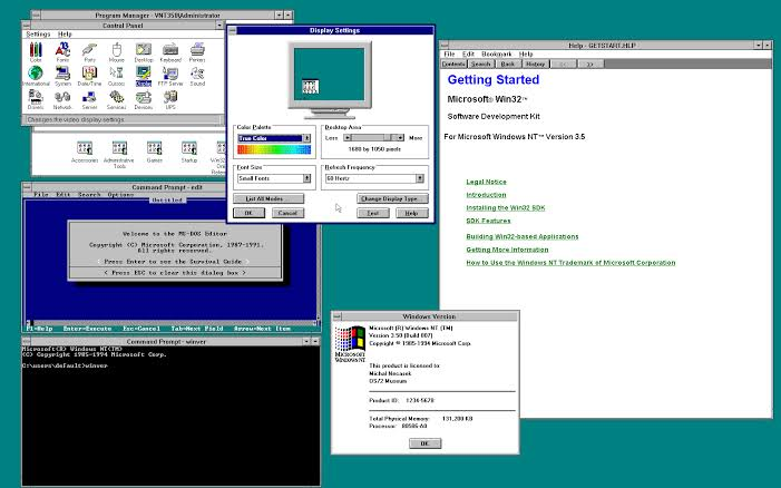 Where can you download  Windows NT 3.51 (1995) For Workstation And Server Free