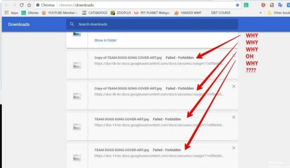 How to fix google drive download error