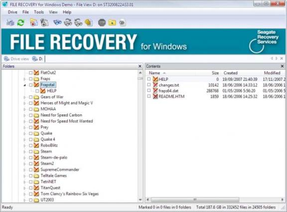 How to download Seagate file recovery system software