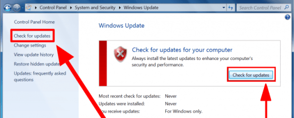 How to Manually Check for Windows 7 Updates