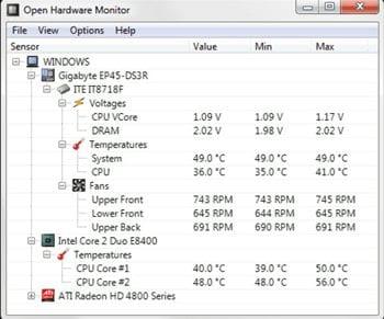 How to check best CPU Temperature Range