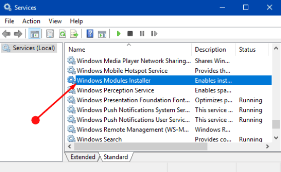 Windows Modules Installer Worker High CPU